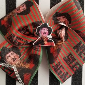 Horror never sleep again hair bow